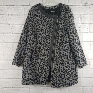 BB Dakota gray leopard print faux leather jacket